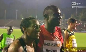 The 17 Years old Mohamed Amman wins 800m at 2011 Milan Meet