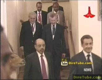 PM Meles Zenawi meets French President Nicholas Sarkozy