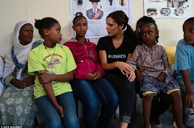 Victoria Beckham Work with UNAIDS in Ethiopia