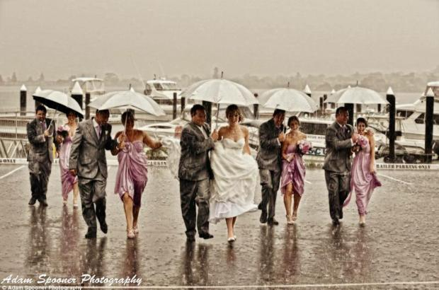 Is Wedding Day 'Rain a Blessing?'