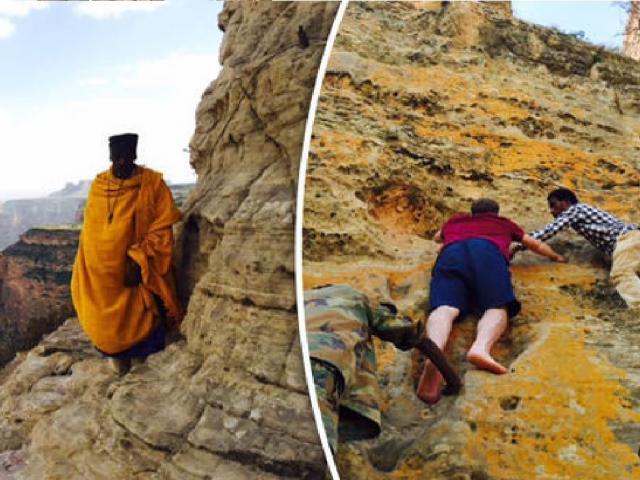 World's most dedicated Christians? Thousands climb steep cliffs to reach hidden churches
