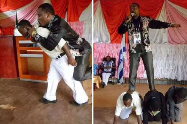 Meet pastor whose legs do not touch ground while minister...