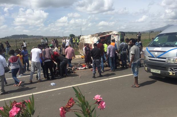 Terrible Car Accident at the Addis-Adama Expressway