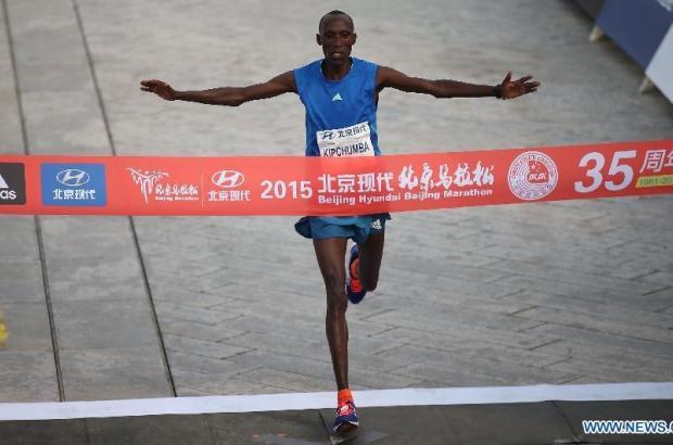 41-year-old Kenyan veteran Kipchumba wins 2015 Beijing Marathon
