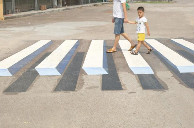 India plans to use 3D paintings as virtual speed-breakers to make its roads safer