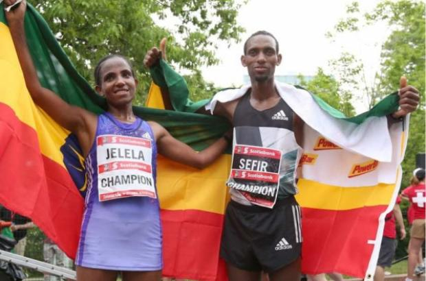 Ethiopian athletes won the marathon race in Canada