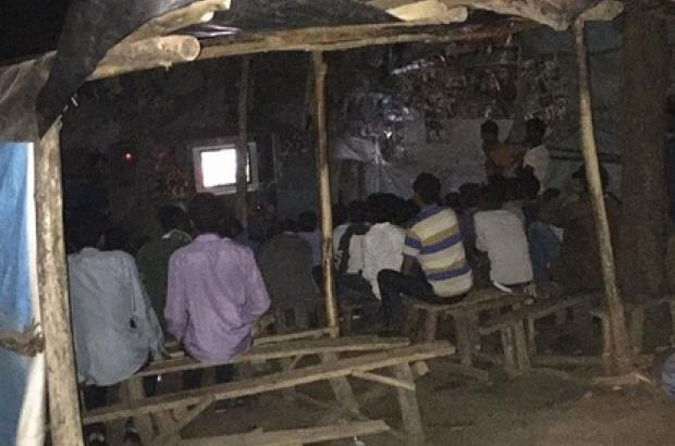 Football in the UK is often the Backdrop to a Pub Conversation; in Lalibela, it was...