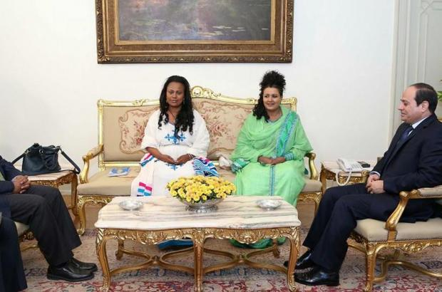 Mulu Solomon and Hirut Woldemariam Met with Egypt Higher Officials