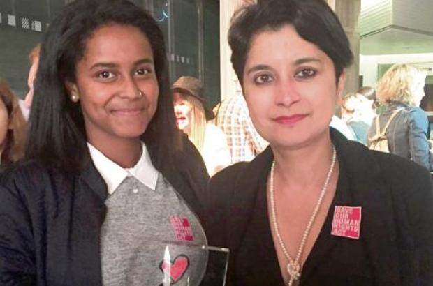 Andargachew Tsege's Daughter Helawit got Human Rights Award