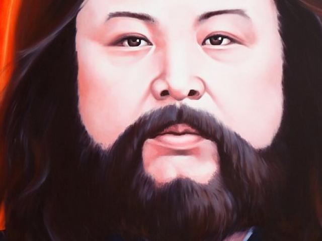 An Artist Gives Kim Jong Un face Jesus Look