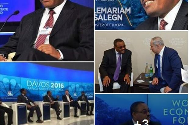 Prime Minister Hailemariam Take Part the Davos WEF Summit