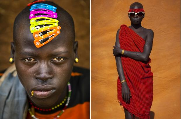 Stunning pictures capture the meeting of tribal tradition and consumerism