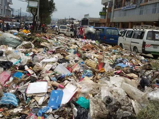 Addis with huge pools of waste