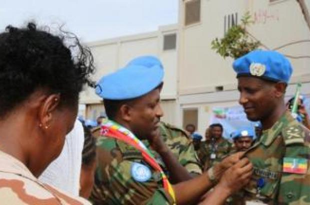 Medal Given for families of Ethiopian soldiers killed in Ab...