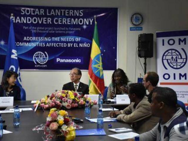 Panasonic Donates 2,400 Solar Lanterns for El Niño-Affected Ethiopians through IOM
