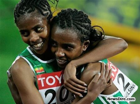 Ejegayehu Dibaba steps to marathon