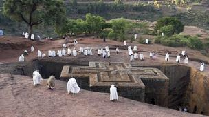 Lalibela - The magnificent rock-hewn churches of Lalibela attract pilgrims from all over Ethiopia. (John Elk III/LPI)
