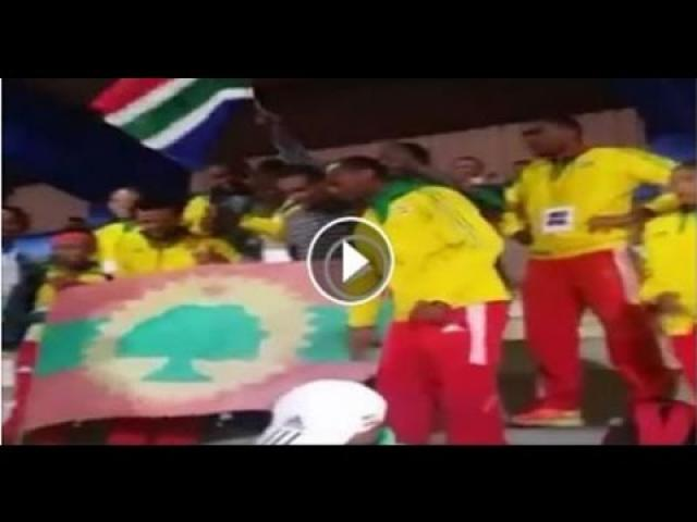 Members of Team Ethiopia hold Oromo Protests at 20th African Athletics Championships in South Africa
