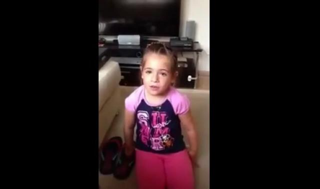 Cute little girl can't promise she won't have any boyfriend