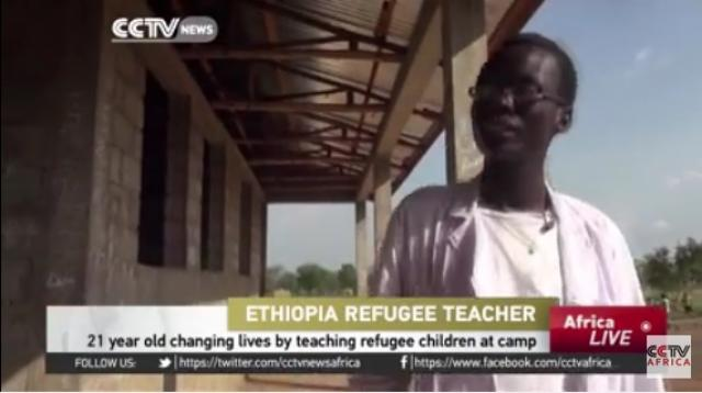 21 year old changing lives by teaching refugee children at camp - CCTV Africa