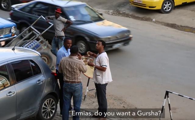 Feeding Injera Gursha to Strangers - Ethiopia be Wiste