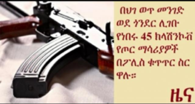 Ethiopia: Police seize 45 illegal Kalashnikov weapons