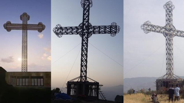 Africa's largest Cross Tower erected in Adigrat, Tigray, Ethiopia