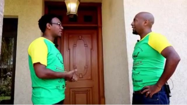 Abreham Wolde with Seifu in his House