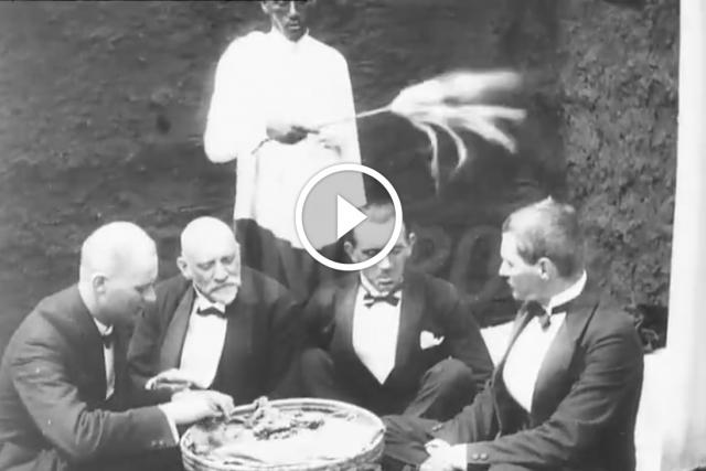 Europeans Share A Meal Around A Mesob In Ethiopia C 1920s