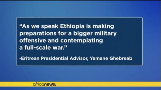Is Ethiopia contemplating 'full-scale war' against Eritrea?