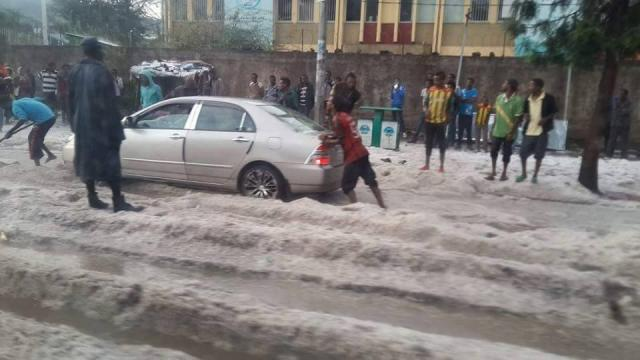 Unexpected Heavy rain in Addis Ababa News Report from Tadias Addis