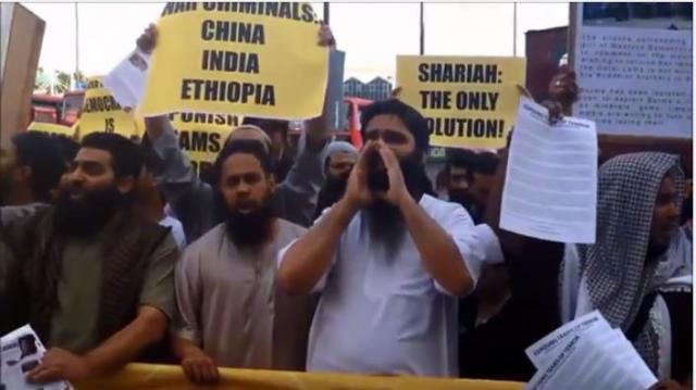 LONDON : Muslims Protesting against USA, UK, Russia, India, China, Ethiopia, Angola