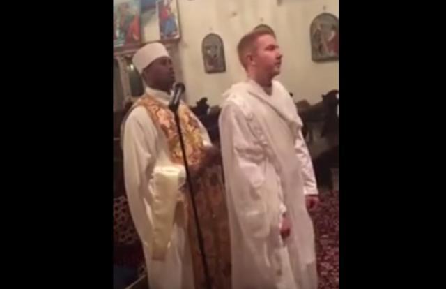 New Ethiopian Orthodox Convert White Man Singing Yaredawi Zema