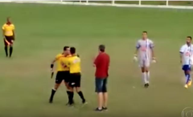 Football Referee pulls out a Gun instead of Red Card - WOW