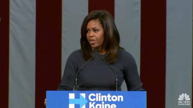 """Michelle Obama says Donald Trump's comments are """"disgraceful and intolerable"""""""