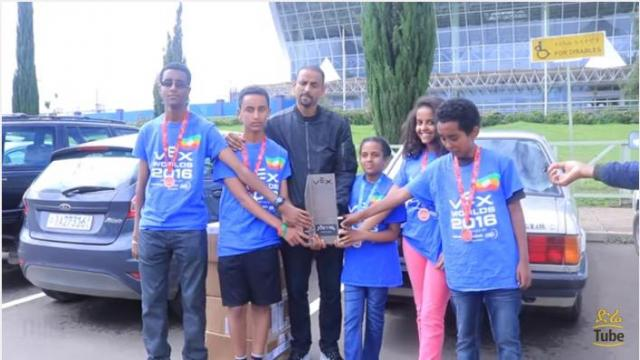 Students represent Ethiopia on Robotic Competition at NASA