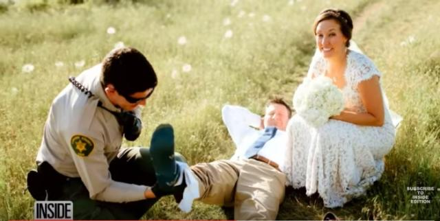 Groom Suffers Rattlesnake Bite In The Middle of Taking Wedding Photos