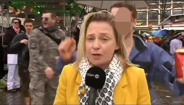 TV reporter Sexually assaulted live on air as she reports on how migrant New Year rapes
