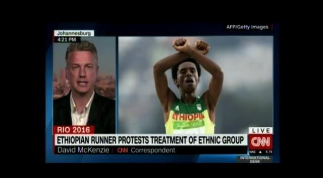 Political exile Feyisa Lilisa of Ethiopia
