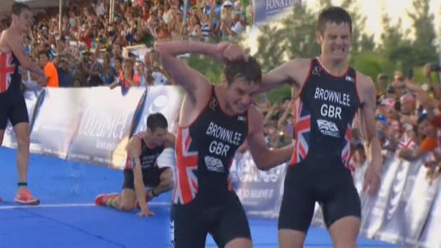 British athlete gives up second place to stop little brother collapsing