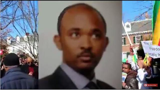 """Justice For Hailemedhin"" Rally for Ethiopian Airlines Co-Pilot in Washington DC  Switzerland Embass"