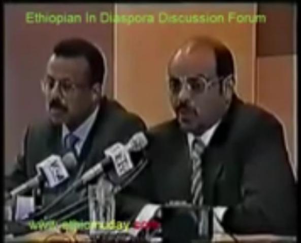 Former Ethiopian PM Meles Zenawi speaking about Aseb