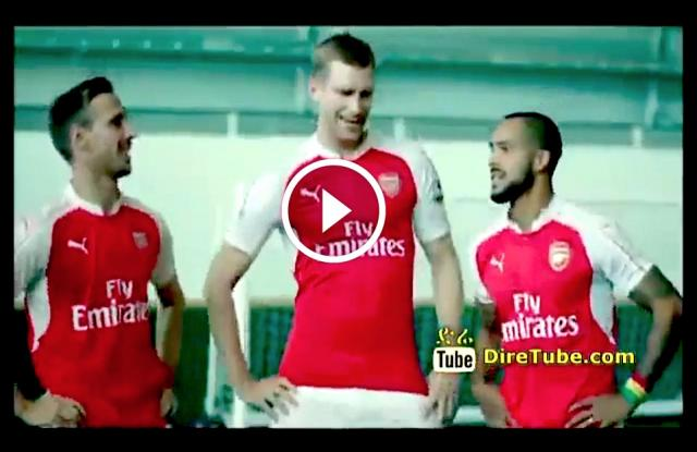 Arsenal Players Doing Eskista - Dashen Beer Ads