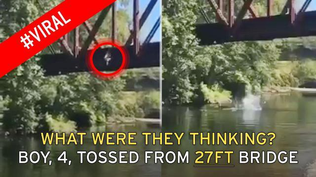 Must watch this Toddler Thrown From Bridge Into River by his mother