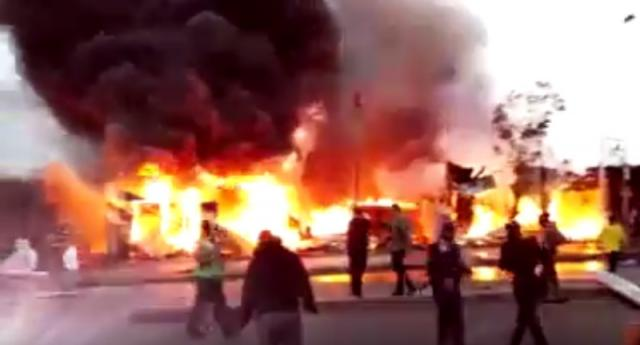 Fire Broke out at Addis Ababa Shola Market Area