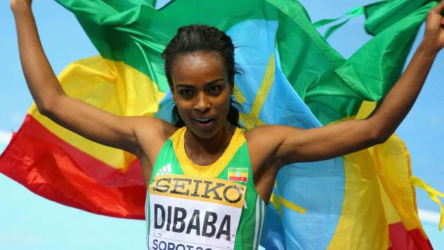Genzebe Dibaba wins the 2015 IAAF female athlete of the year award