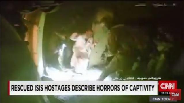 Rescued ISIS hostages speak on captivity