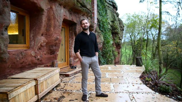 bTV - Modern Caveman: Man Builds A $230,000 House In 700-Year-Old Cave