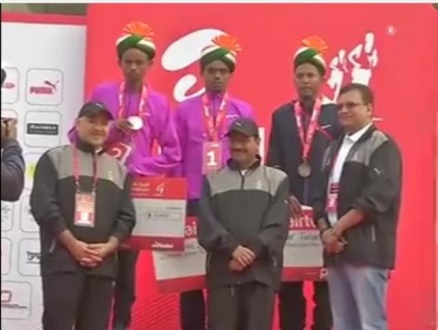 Ethiopian and Kenyan nationals sweep half marathon in Delhi