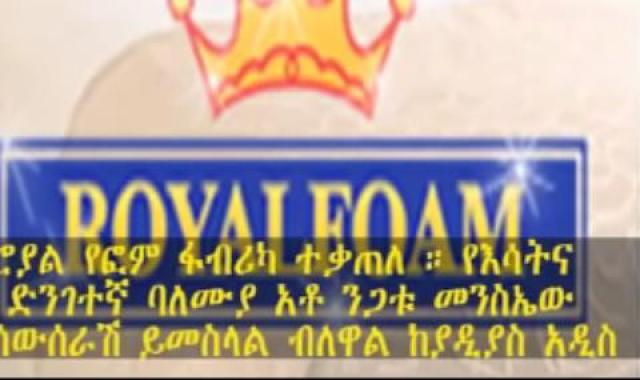 Ethiopia: Fire breaks out at Royal Foam factory